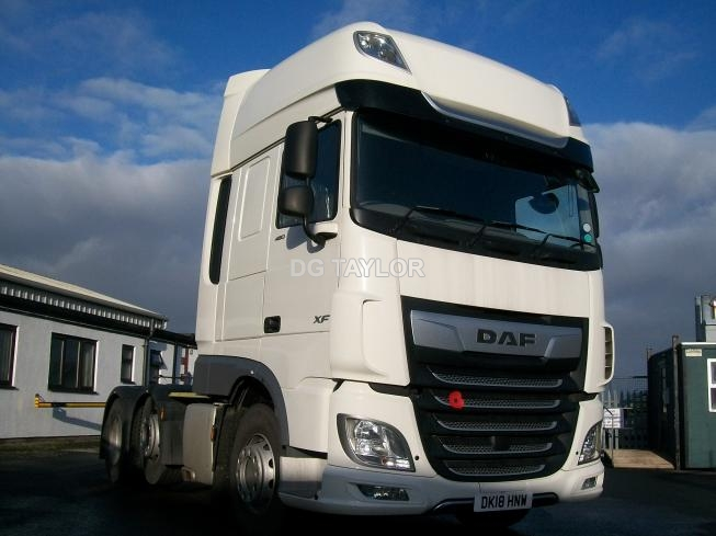 2018 DAF  XF EURO 6 480 BHP SUPERSPACE CAB 6X2 UNIT (AUTO)